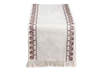 Picture of Crescent & star embroidered in café table runner