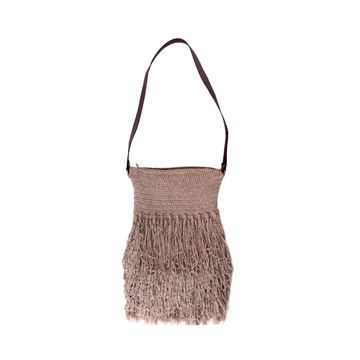 Picture of Cotton Cross bag with fringes .  L 40 * W 30