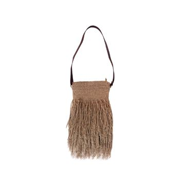 Picture of Burlap Cross bag with fringes . L 40 * W 30
