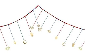 Picture of Decoration garland with copper ornaments (4meters)