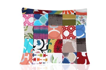 Picture of Patchwork square cushion