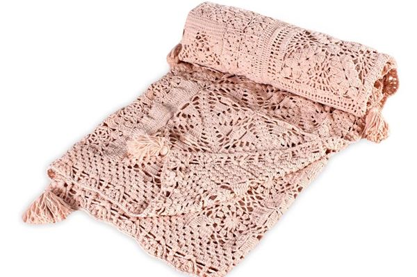 Picture of Cotton blanket in cream color SIZE: 2*160CM