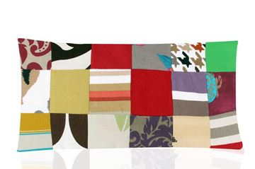 Picture of Patchwork rectangular cushion
