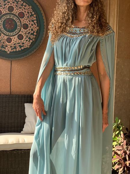 Picture of Pharaonic dress in mint green