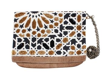 Picture of Islamic pattern bag with black & gold beads. L 22 * w 27 cm