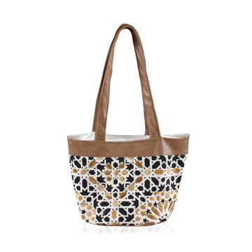 Picture of Tote bag with Islamic design embellished with beads. L 26 * w 40 cm