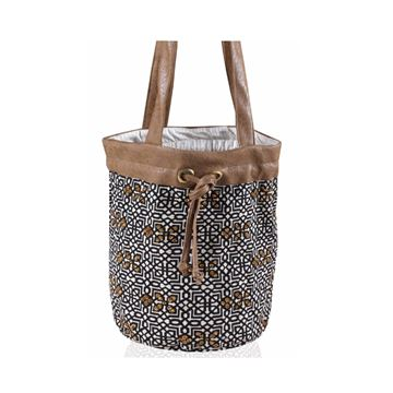 Picture of Bucket bag with Islamic design embellished with beads. L 30 * w 34 cm
