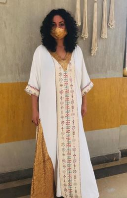 Picture of Siwa modern galabeya with gold sequins