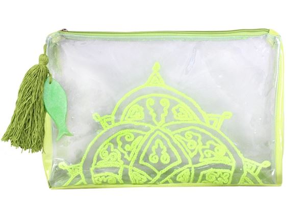 Picture of Transparent clutch in yellow. L 21 * W 33