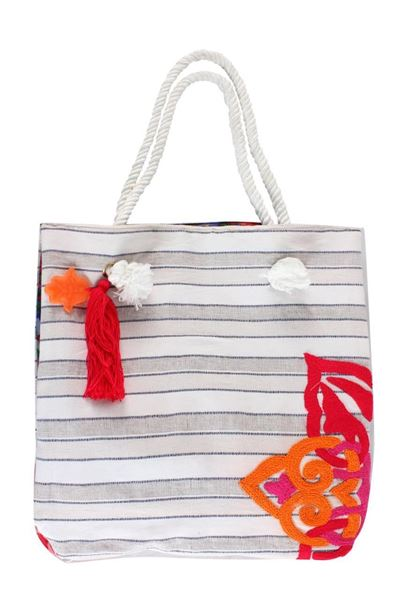 Picture of Stripped shoulder bag. L 46 * W 44