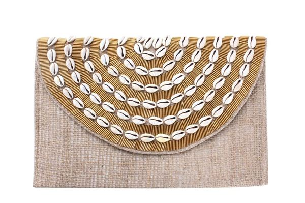 Picture of Envelope Clutch with shells . L 20 * W 30